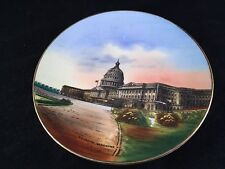 ANTIQUE WHEELOCK SOUVENIR CHINA PLATE FROM THE CAPITOL BUILDING WASHINGTON D.C.