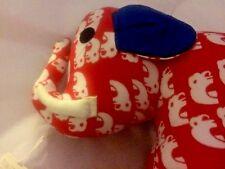 Elephant Trunk Up Stuffed Animal Chiang Mai Thailand Plush Hand Made Craft NEW