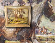 Caballo de pinturas en el galope. Orig. antiguo Expresionista al óleo