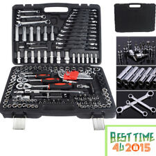 150 Pieces Mechanics Hand Tools Socket And Ratchet Spanner Tools Set Box UK