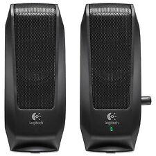 New ! Logitech S-120 2.3W (RMS) 2.0 Speaker System, Black #980-000012