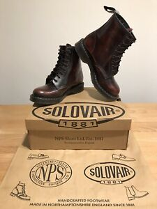 NPS SOLOVAIR Galaxy Bordeaux Leather 8 Eye Derby Boot! SizeUK6! New!Only£149.90!