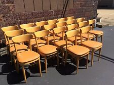 20 Same Mid Century Thonet Wood Cafe Chairs W / Cushions   Romanian Made    Nice