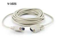 25' VGA (HD15) Male to Male Monitor Cable, V-1025