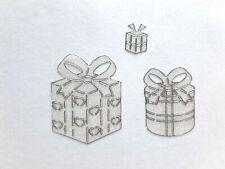 Stickerbogen, Weihnachten, Geschenke, Glitzer, Weiß, Nr. 7029