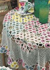 Floral Tablecloth Home Decor Digest Size Crochet Pattern Instructions