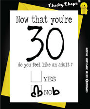 30th Thirty Birthday Greetings Card Funny Adult Rude Quirky Insult  c63