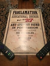 New! Geek Gear Wizardry Harry Potter Licensed Proclamation #27 Art Print Poster