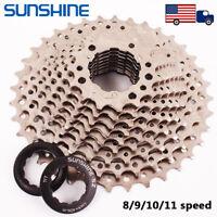 SUNSHINE 25/28/32/36T Cassette KMC Chian Road Bike Cassettes Cogs 8-11 Speed