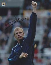 Manchester City F.C Stuart Pearce main signé photo 10x8.