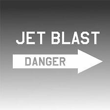 Danger Jet Blast Decal Aviation Placard Aircraft Sticker Right