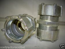 """New Overstock Thomas & Betts 1-1/4"""" Compression Couplings (Lot of 2)"""
