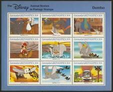 Grenada Grenadines 989 MNH Disney, Dumbo, Elephant, Birds, Train