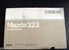 Betriebsanleitung Mazda 323 Stand 1992