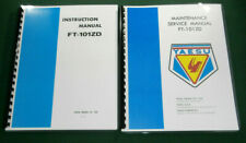 "Yaesu FT-101ZD Instruction & Service Manuals: with 11"" x 17"" Foldout Diagrams"