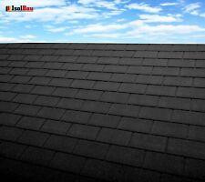 Dachschindeln 12 m? Rechteck Form Schwarz (4 Pakete) Schindeln Dachpappe