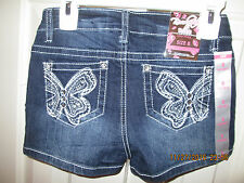 NWT Revolution by Revolt Size 8 shorts with butterfly embellishment