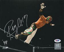 REY MYSTERIO SIGNED AUTO'D 8X10 PHOTO PSA/DNA COA WWE ECW WCW AAA LUCHA MASK A