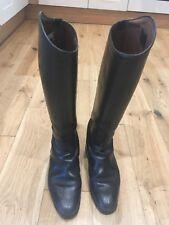 König classic black leather riding dressage boots, size 7