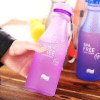 Irrompible Deportes botella de agua A prueba de fugas Frosted Taza de plástico