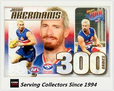 Select AFL 300 Game Case Card: 2010 Champions CC34 Jason Akermanis (W. Bulldogs)