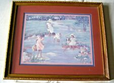 Ann Mount Framed Print      Children playing in the water Free shipping