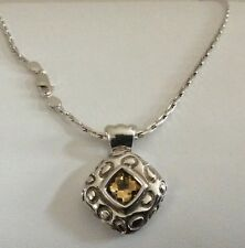 Genuine Citrine Sterling Silver Pendant...For You..Your Mom..or favorite Girl