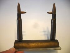 Vtg World War 2 WWll BULLET Paperweight Display Trench Art Picture Frame Stand