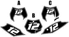 2011-2012 KTM 350SX-F Custom Pre-Printed Black Backgrounds White Pinstripe