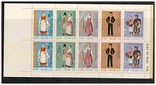 SUOMI FINLAND 1972 ANCIENT & NATIONAL COSTUMES FOLDED BOOKLET PANE OF 10 MINT