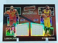 16-17 Panini Lebron James Kyrie Irving Aficionado Dual Authentics Jersey #/299