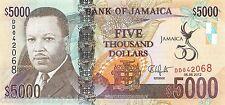 """Jamaica 5000 Dollars 2012 Unc pn 93  """"Golden Jubilee of Jamaica"""""""