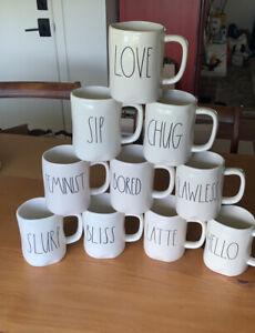 Lot of 10 Rae Dunn Mugs Artisan by Magenta