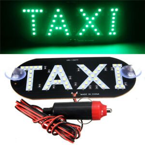 Auto Green 45 LED Cab Taxi Roof Sign Light 12V Vehical Inside Windscreen Lamp mi