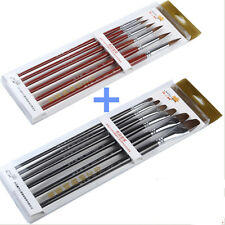 US STOCK  Sable Hair Paint Brush Art Artist Painting for Oil Acrylic Watercolor