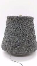 Wolle Stricken &Handstricken| Bouclè Kone 88% Leinen grau 900gr effektgarn b08