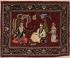 Pictorial Design Vintage Small 2'8X3'2 Handmade Area Rug Oriental Home Carpet