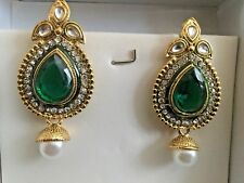 Diseñador Aro tradicional indio pendiente aro jumkha Bollywood Joyería Fina
