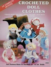 """Crochet Doll Clothes Pattern Book Two sizes to fit most 15"""" to 18"""" Dolls"""
