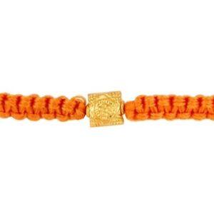 18k Yellow Solid Gold Bead Thread Bracelet Antique Designer Jewelry Gift