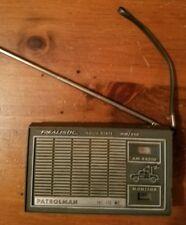 Working Realistic Patrolman AM/VHF-LO Police Portable Radio Transistor 12-627