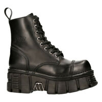 New Rock M- New Mili 083c-C1 Black Gothic Boots Military Rock Unisex TOWER Shoes