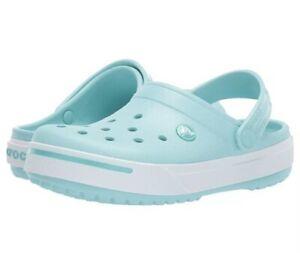 Crocs Crocband II Clogs, Ice Blue ☆ Women's Size 7 Men's Size 5 (11989-4JA) NEW