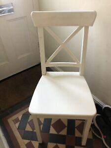 IKEA INGOLF Chairs - White - Set Of 4