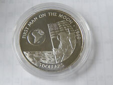 5 Dollars 1991 Cook-Islands Silber PP First Man on the Moon