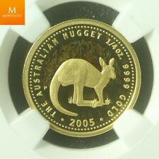 2005P Australia Gold 25 dollar Kangaroo colorized NGC PF70 Minted only 750 coins