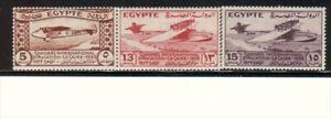 EGYPT, HINGED SCOTT # 172,73,74, CONGRES INTL. D'AVIATION VAL. $ 47.50