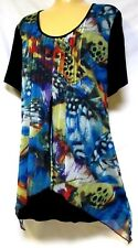 plus sz XS (14) VIRTU by TS TAKING SHAPE sexy layered tunic funky top NWT!