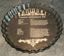 Arcopal Glass Lemon Meringue Pie Dish with Recipe inlay