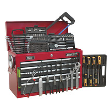 More details for ap22509bbcomb sealey topchest 9 drawer red/grey & 196pc tool kit